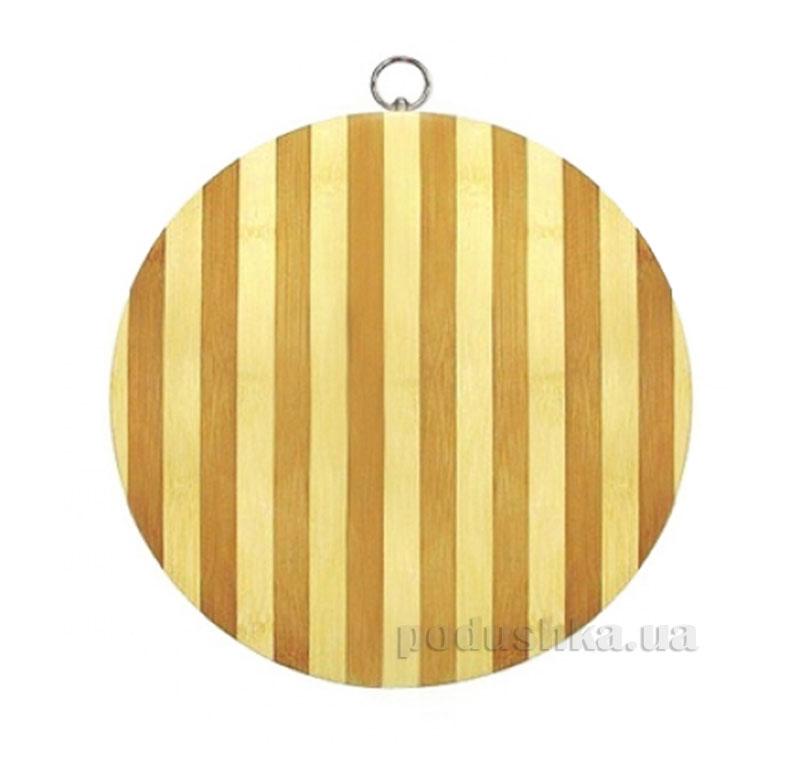 Доска разделочная круглая из бамбука Kamille