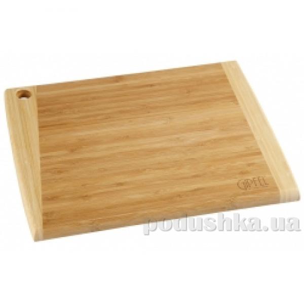 Доска разделочная прямоугольная 35x27,5x2 см Gipfel бамбук