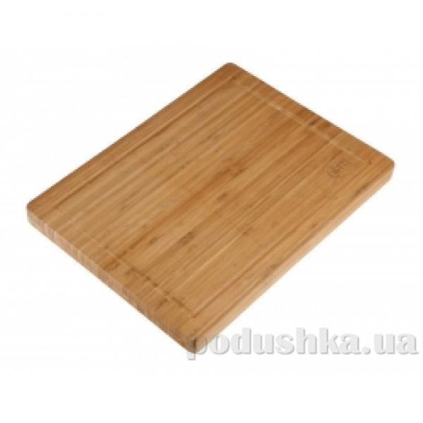 Доска разделочная прямоугольная 40x30x3 см Gipfel бамбук