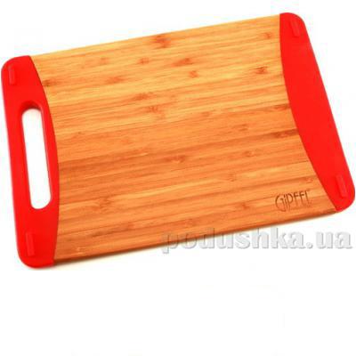 Доска разделочная прямоугольная с силиконовыми ручками 30х20х2,1 см Gipfel бамбук