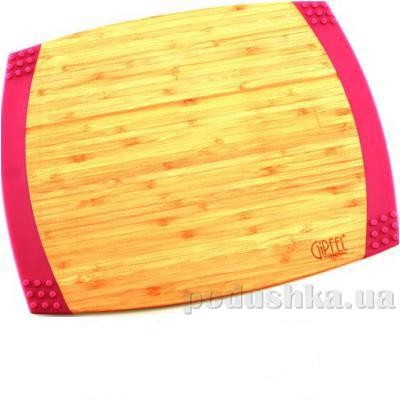 Доска разделочная прямоугольная с силиконовыми ручками 35,6х27,9х2,1 см Gipfel бамбук