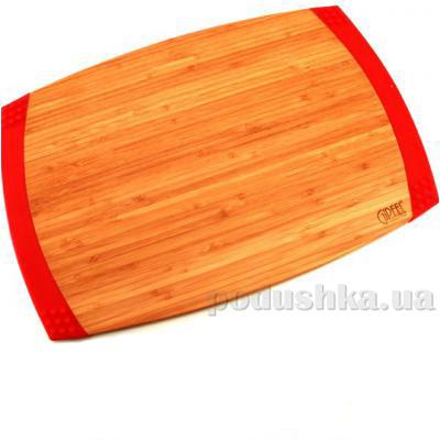 Доска разделочная прямоугольная с силиконовыми ручками 45,7х30,5х2,1 см Gipfel бамбук
