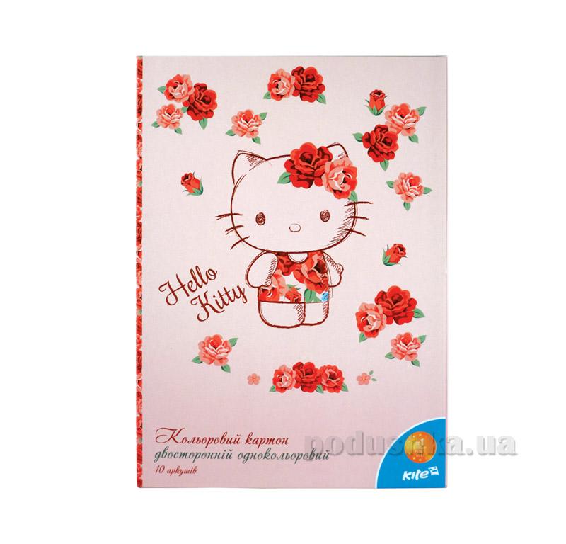 Двухсторонний цветной картон Hello Kitty Kite HK15-255К