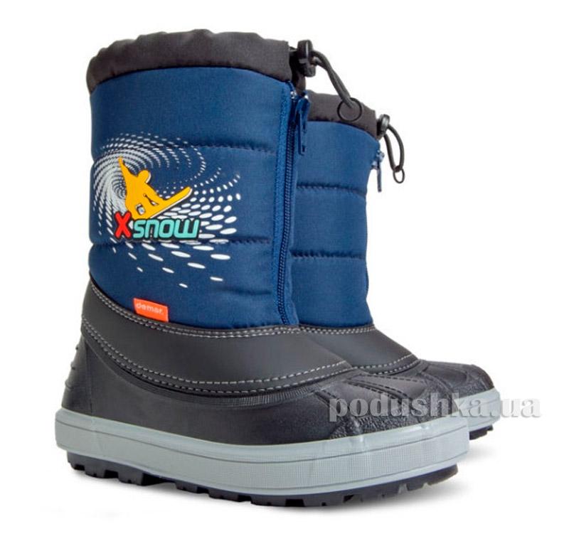350738fd9 Дутики детские Demar X-Snow темно синий купить в Киеве, детская ...
