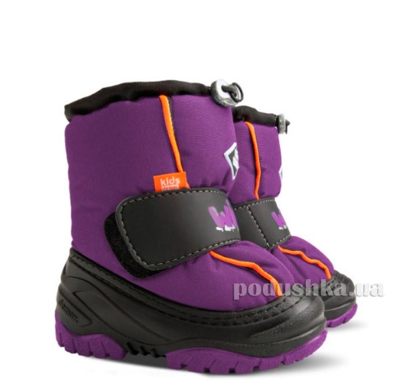 Дутики детские Ice Snow фиолетовые