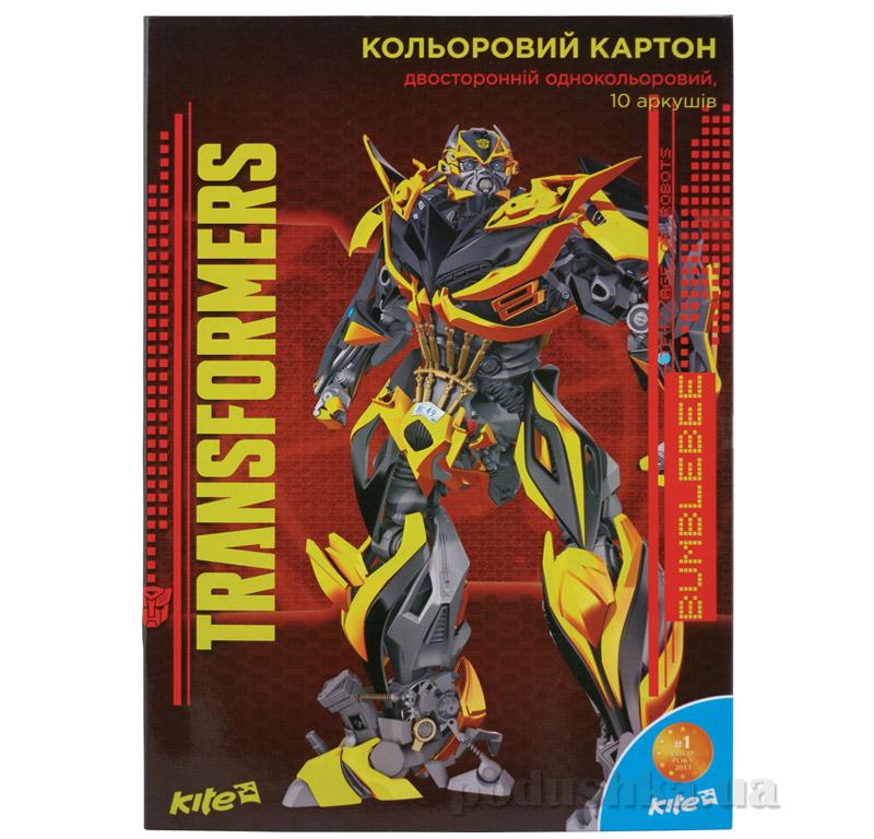 Двухсторонний цветной картон Transformers Kite TF15-255К