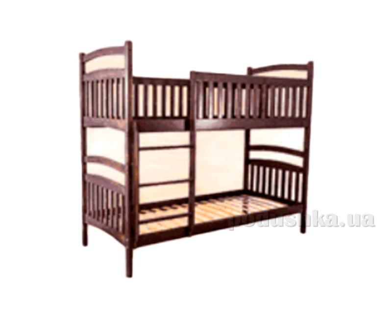 Двухъярусная кровать из массива ольхи Акант Пиноккио