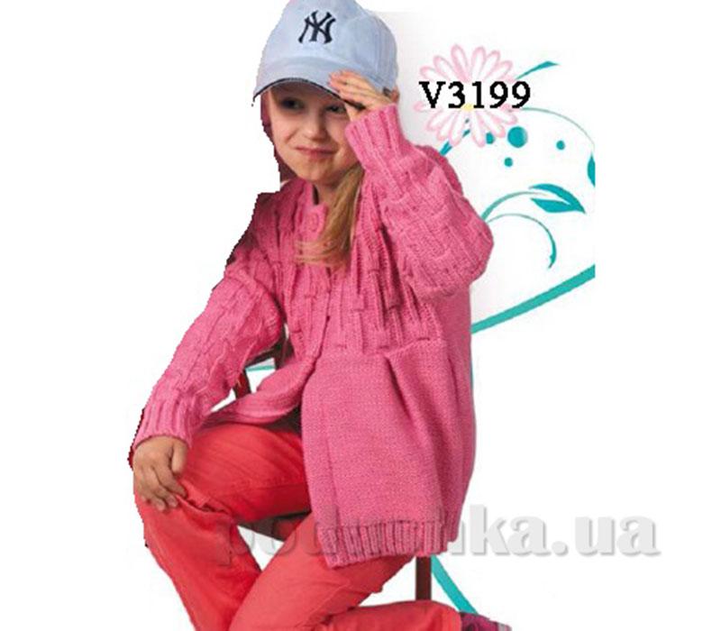 Джемпер для девочек хлопок/акрил Volypok V3199-92-98