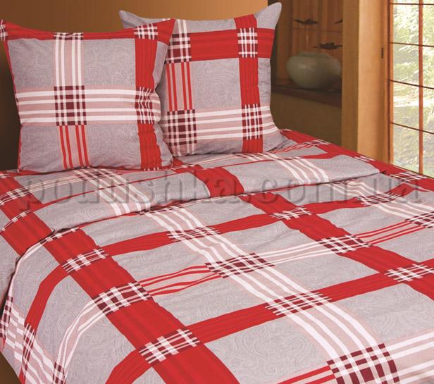 Постельное белье Belle Textile Scotch красный