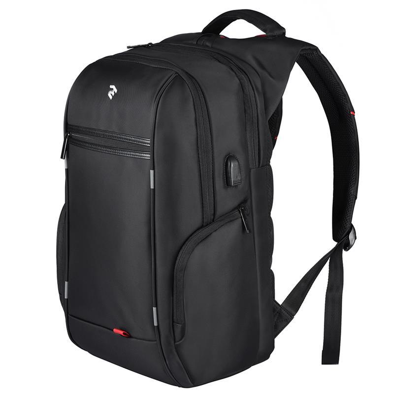Рюкзак для ноутбука 2E BagsCases 16 с USB кабелем и интрефейсом 2E-BPN9004BK черный