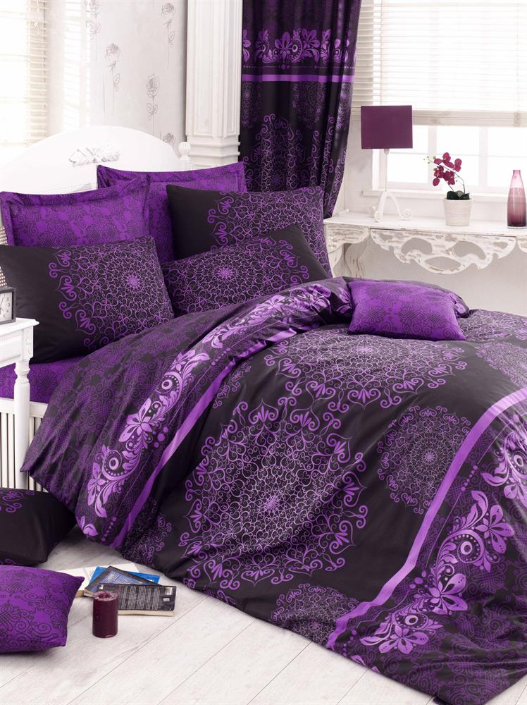Постельное белье Lighthouse ранфорс Osmanli фиолетовое