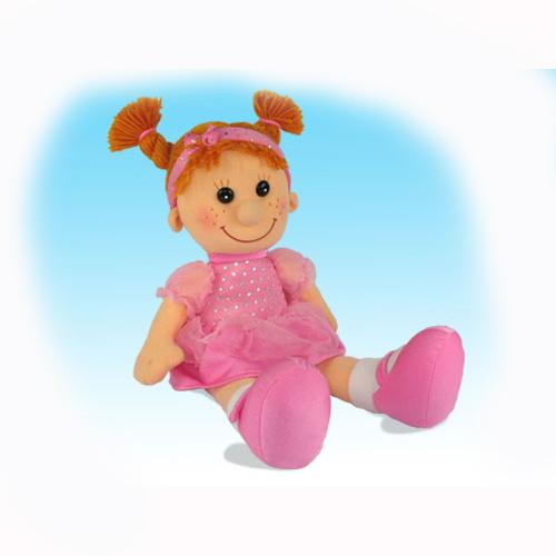 Мягкая игрушка - Кукла Майя в платье с блестками