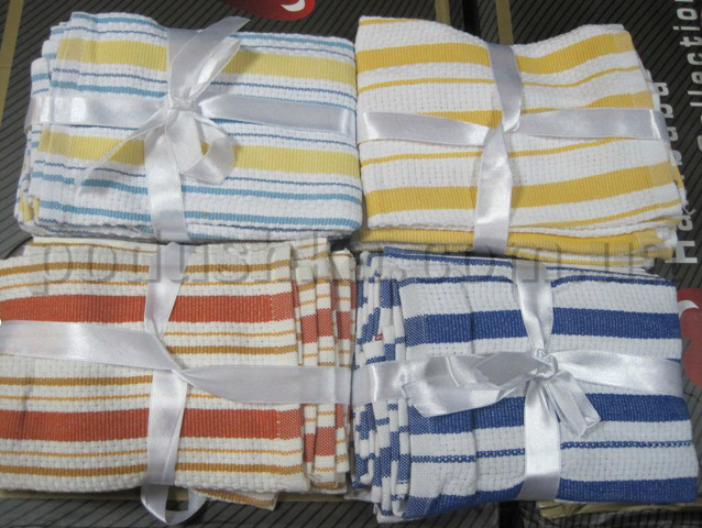 Набор вафельных кухонных полотенец Mariposa 12 штук