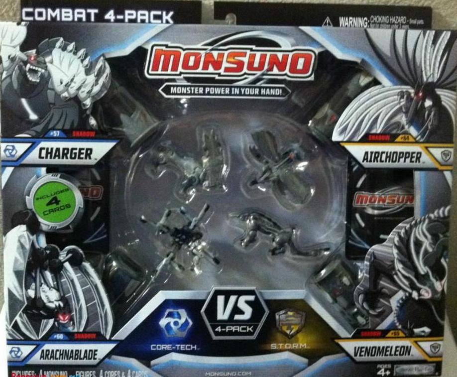 Набор для битвы на 4 игрока Monsuno Core-Tech S.T.O.R.M Charger, Arachnablade , Airchopper, Venomeleon W3 24982-42946-MO
