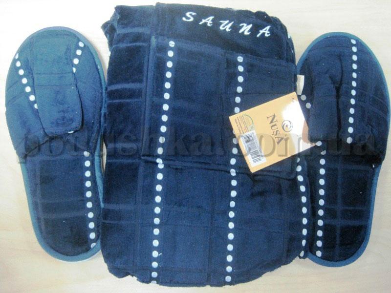 Набор для сауны мужской Nusa NS-215 синий