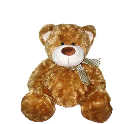 Мягкая игрушка - Медведь коричневый, с бантом, 33 см