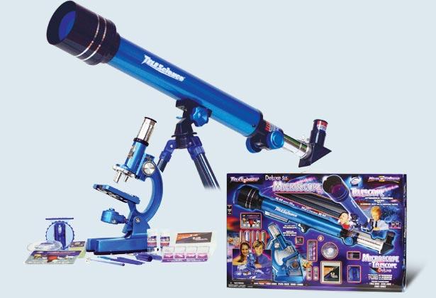 Микроскоп 100х500х1000 и телескоп30/60 Eastcolight [2037-EC]