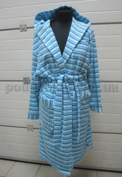 Халат женский махровый короткий с капюшоном  Nusa NS-44016
