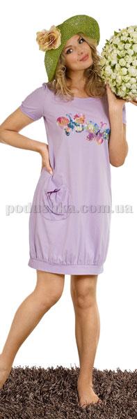 Ночная сорочка Вайде 1349К (сиреневый с бабочками)