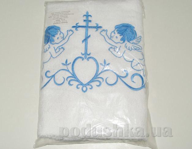 Крыжма для малыша Nostra бело-голубая 70х140 см  Nostra