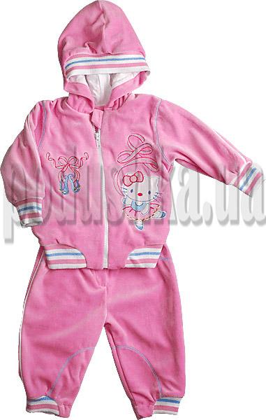 Детский спортивный костюм Ляля 2ТК017 велюр