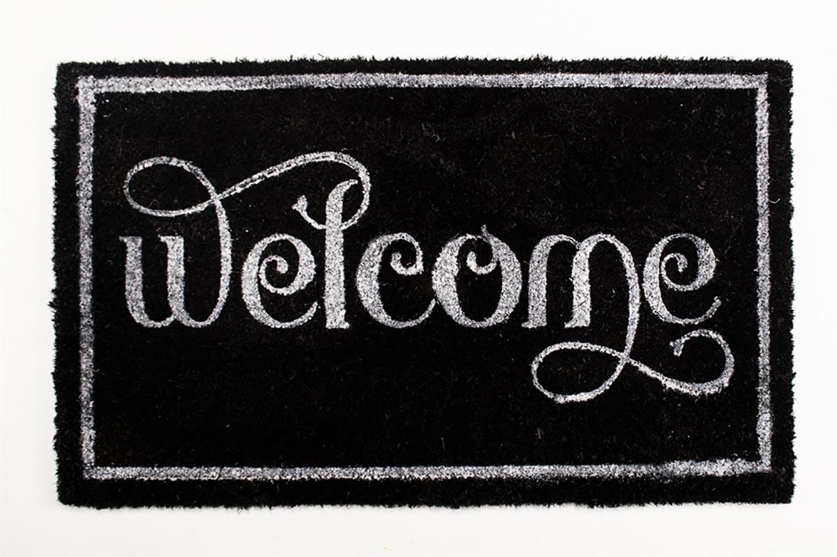 Коврик придверный Izzihome Koko Siyah Welcome