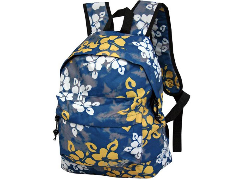 Рюкзак молодежный Derby 140114 синий с цветочным принтом