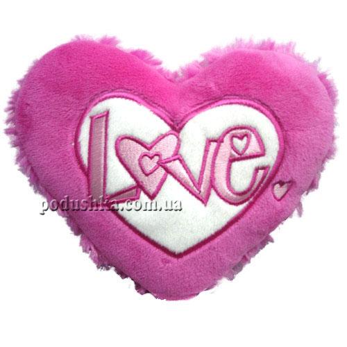 Подвесное сердечко - ЛЮБОВЬ (18 см, розово-белое)