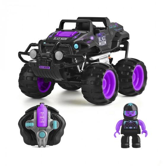 Автомобиль Monster Smash-Ups Crash Car на радиоуправлении Черная Вдова фиолетово-черный, аккум. 4.8V TY5873D-1 6900006487468