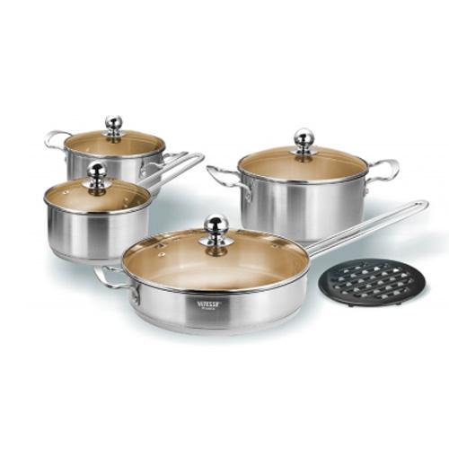 Набор посуды Vitesse VS-1452 (Jade) 9 предметов
