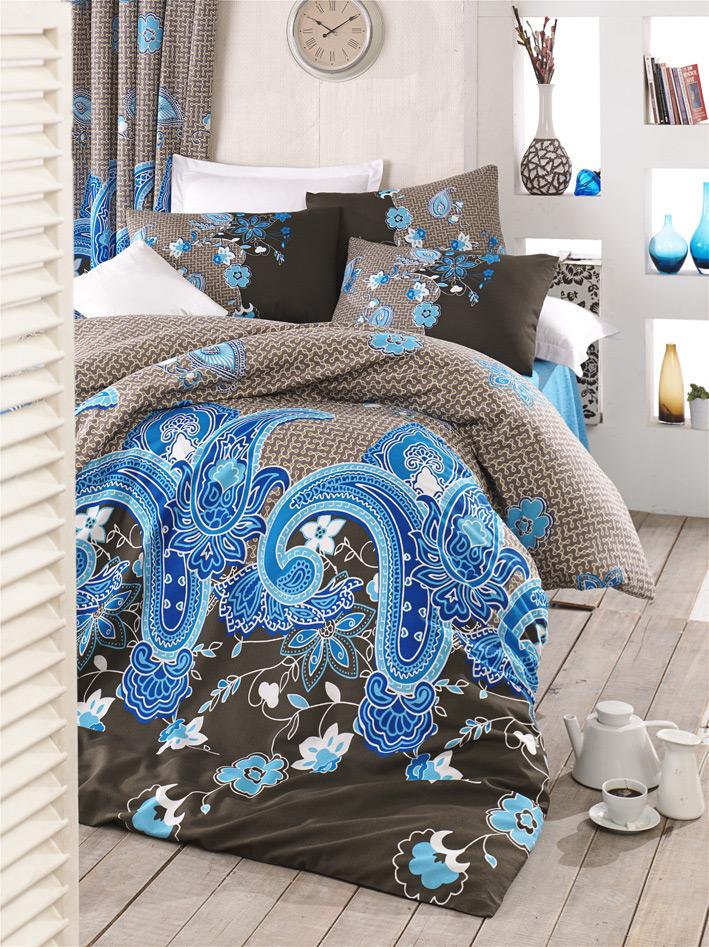 Постельное белье Lighthouse бязь голд Hayat голубое