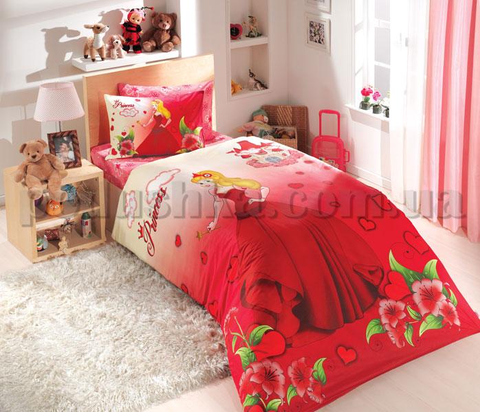 Постельное белье Hobby Prenses красный сатин