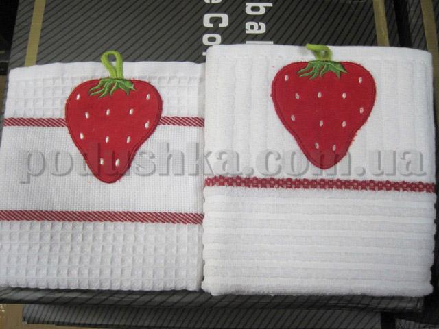 Набор кухонных полотенец Mariposa Клубника (вафельное и махровое)
