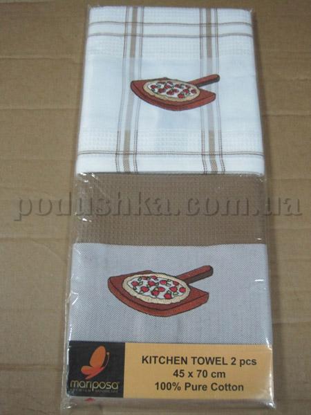 Набор вафельных кухонных полотенец Mariposa Пицца