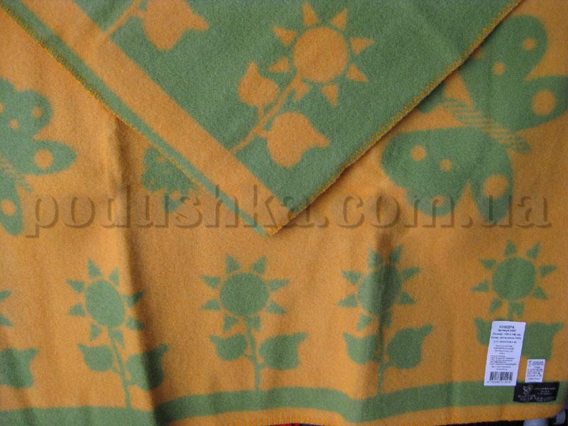 Одеяло детское Klippan Saule Цветы (желто-зеленое)