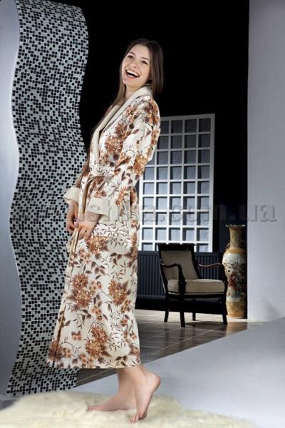 Халат женский длинный Nusa NS-9015-023