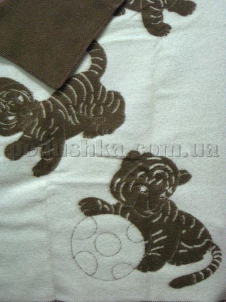 Одеяло детское Тигрята коричневое Klippan Saule