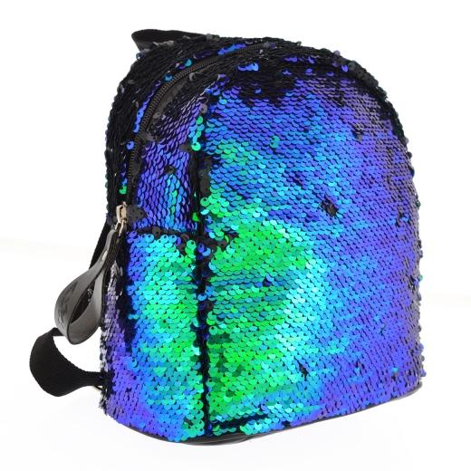 Рюкзак молодежный с пайетками Yes GS-02 Green Sequins 557653 зеленый