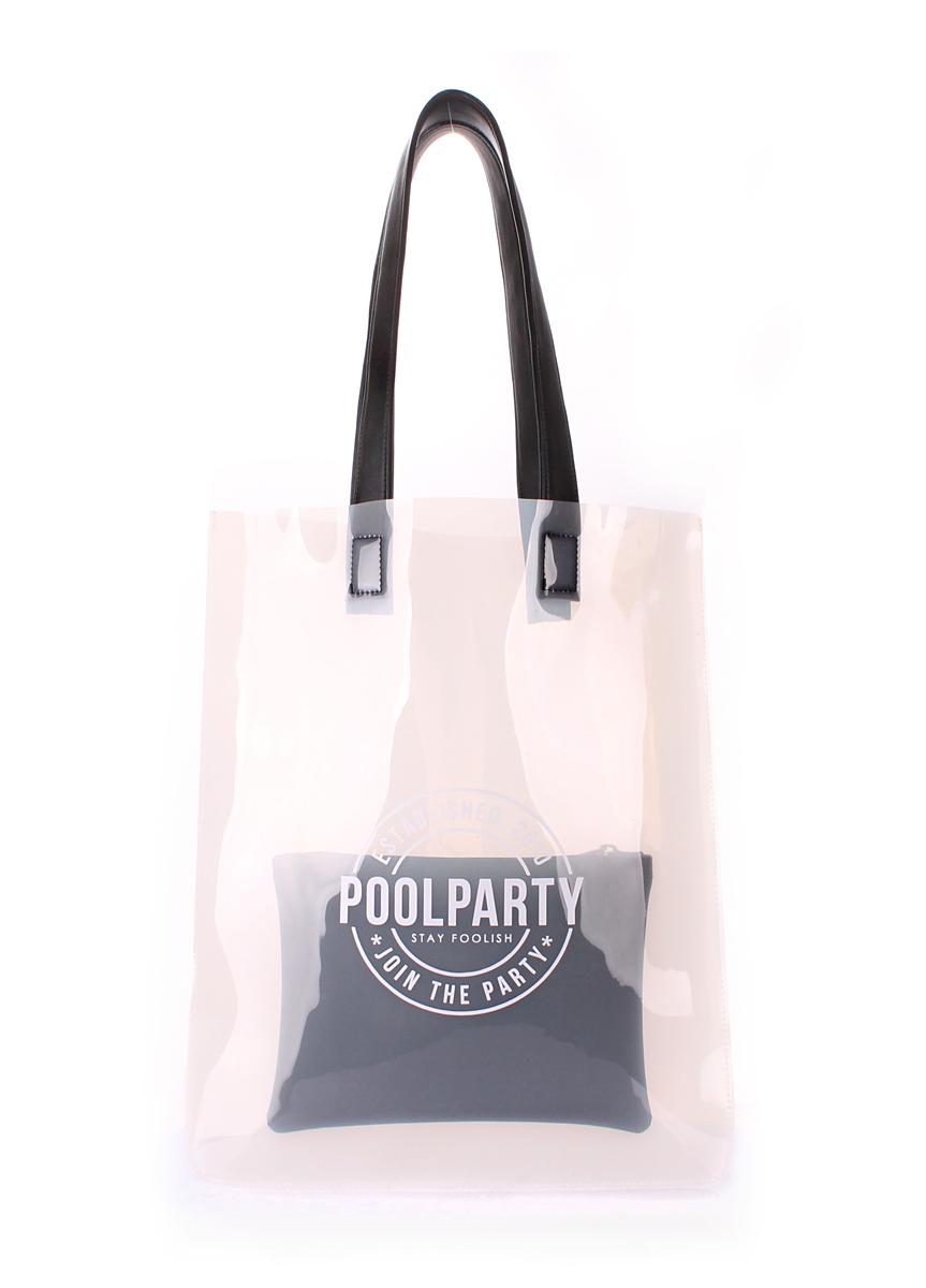 Прозрачная сумка Poolparty Toxic White