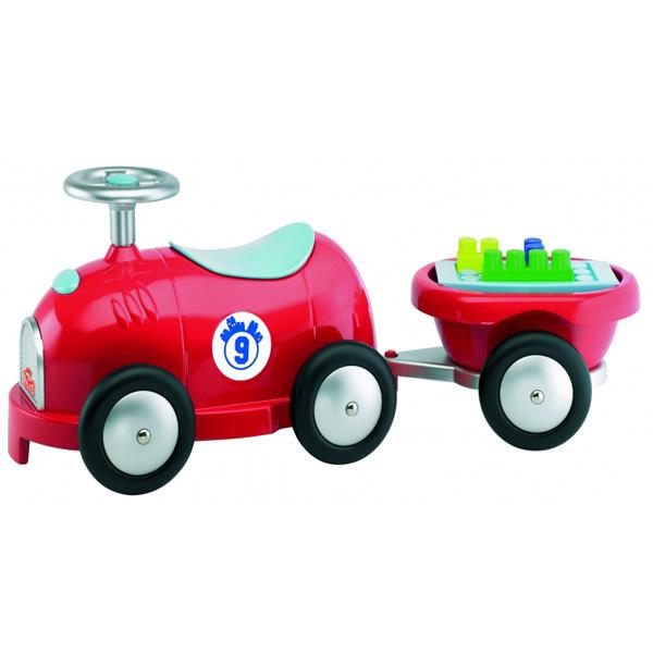 Машинка для ребенка с прицепом и конструктором