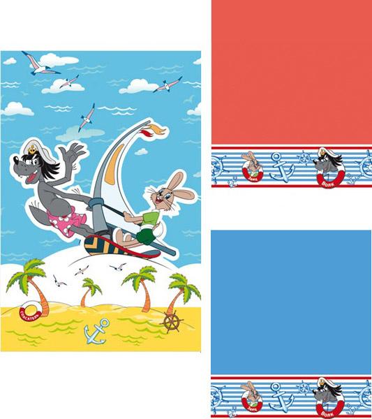 Набор махровых полотенец  Морская прогулка