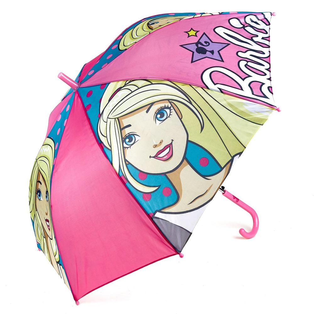 Зонт полуавтомат Барби Disney (Arditex) розовый BR9883 pink