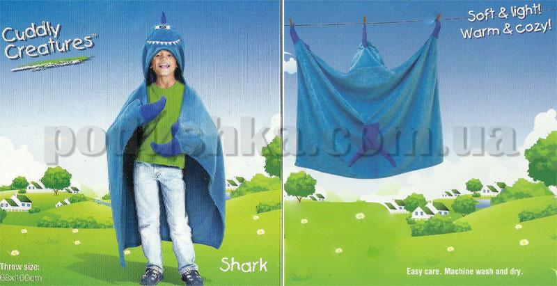Плед-накидка детский Le Vele Shark