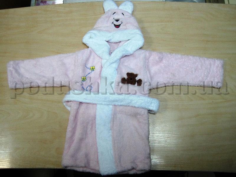 Халат детский Nusa 0-6 месяцев нежно-розовый