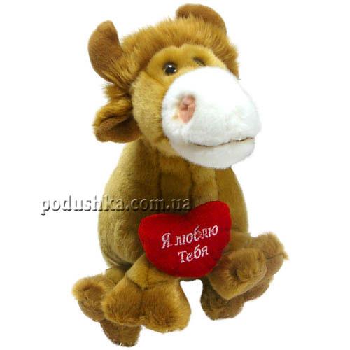 Мягкая игрушка Бычок с сердцем, 24 см