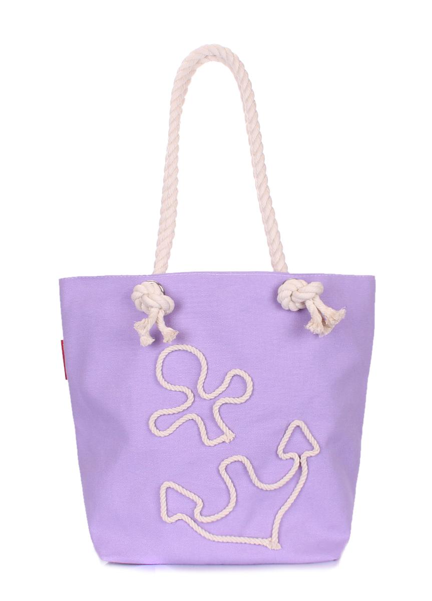Коттоновая сумка с якорем Poolparty Anchor lilac none