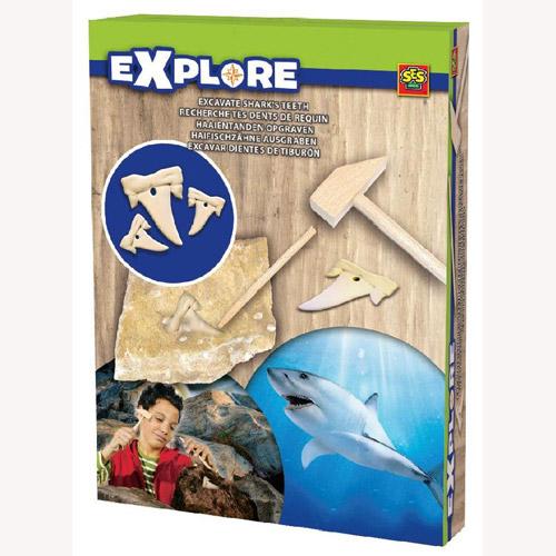 Набор серии Исследователь - Раскопки Акульих Зубов (инструменты, окаменелости)