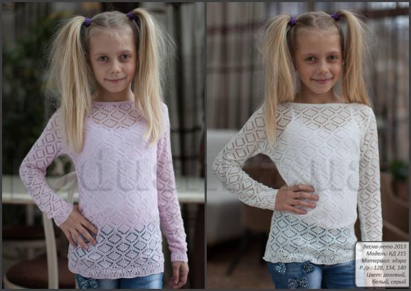 Кофта для девочек Лютик КД215 лен
