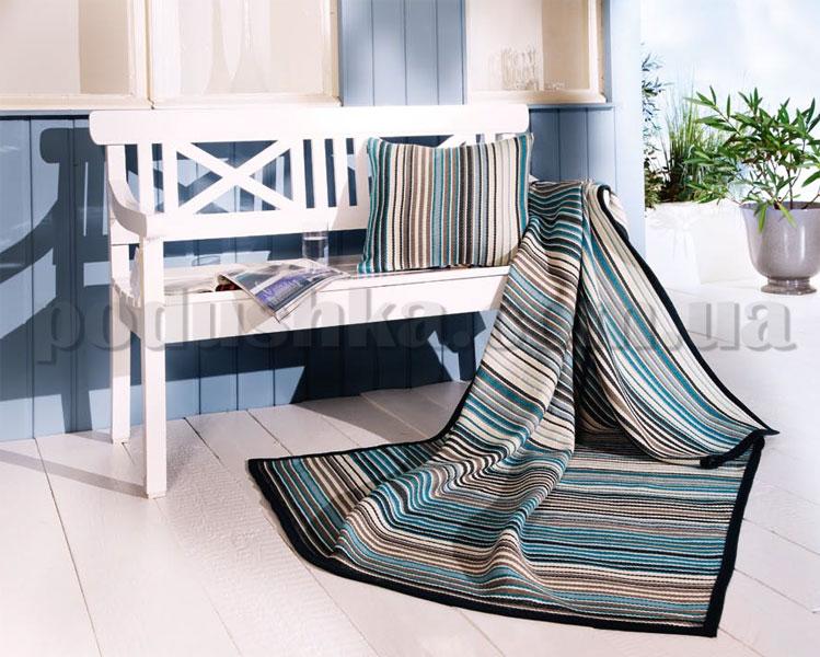 Плед с подушкой Sunrise голубой 586223 Bocasa