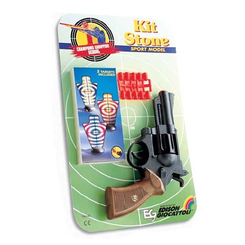 Спорт. револьвер - Kit Stone (8-зарядный,10 пуль, 3 мишени)